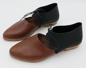 The javian. koniec  brown and raider black. 2cm    handmade shoes, minimal and soft    made to order   