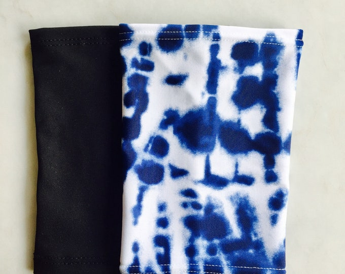 2 pack picc line covers-includes black and blue tie dye covers