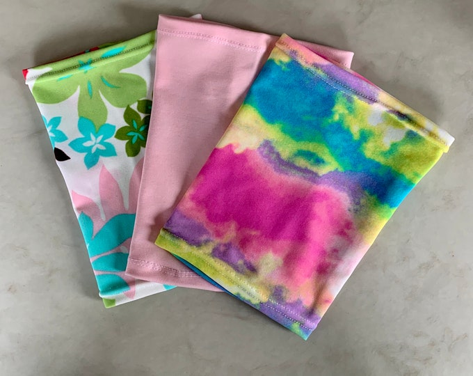 Terrific 3 Pack Picc Line Covers-Includes rainbow, soft pink and flower covers