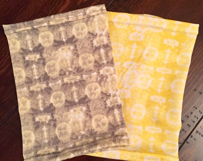 2 pack perfectly pretty picc line covers-soft yellow and grey covers to warm the heart!