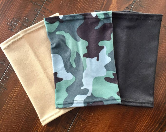 3 Pack Picc Line Covers-camouflage, black and beige