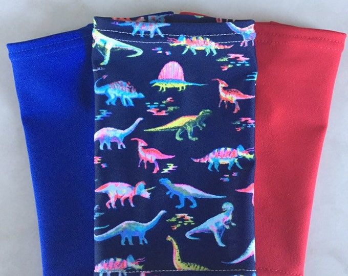 Dino Crazy 3 Pack Picc Line Covers          Includes dinosaur, red and royal blue covers