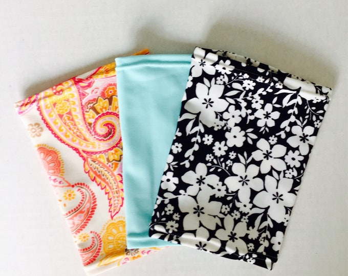 Oh so cute 3 Pack Picc Line Covers Package-paisley, light turquoise and flower power