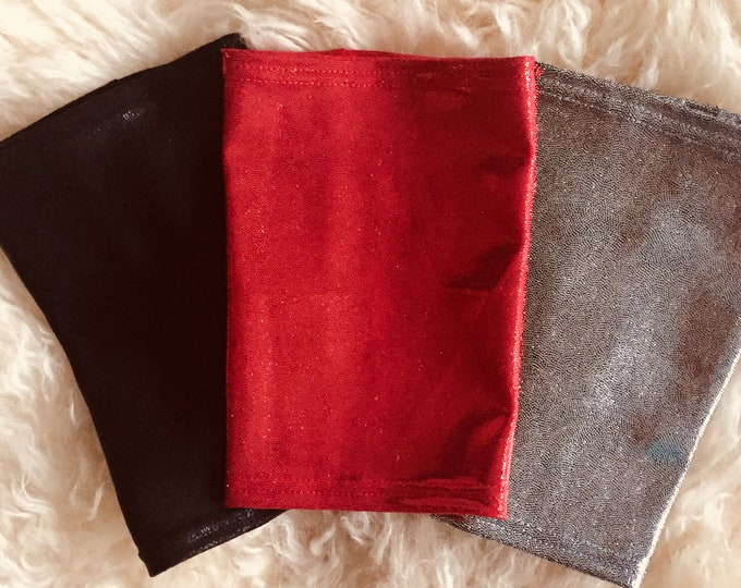 3 Pack Picc Line Covers-Tis the Season to Get your Bling On!  3 pack silver, black and red glitter picc line covers