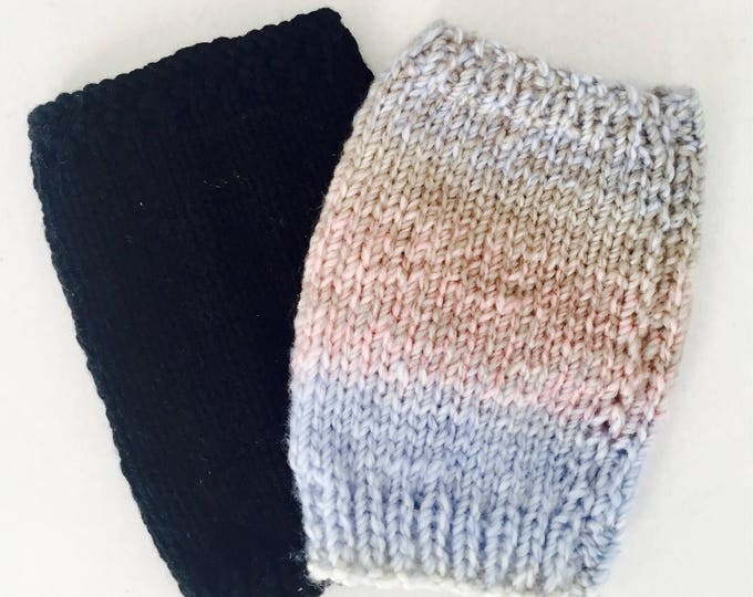 2 pack cozy covers!  Hand knitted to keep you warm this winter.