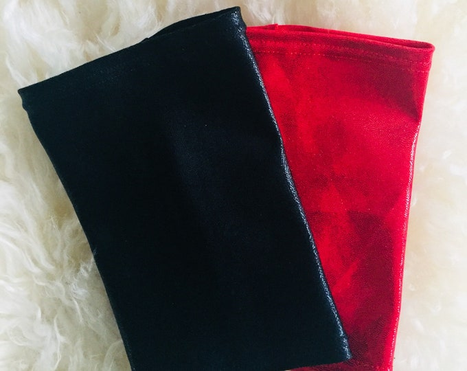Picc Line Cover Sleeve package-Tis the Season to Get your Bling On!  2 pack red and black shimmer picc line covers