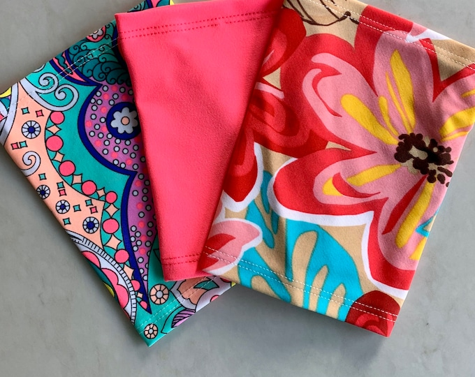Terrific 3 Pack Picc Line Covers-Includes paisley, hot pink and flower covers