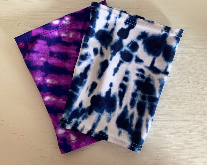 2 pack blue and purple tie dye perfect pack to go with any outfit!