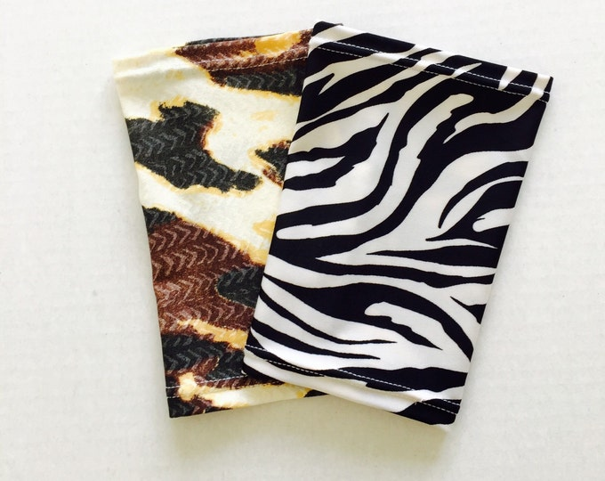 2 pack picc line covers-zebra and leapard print covers for the wild at heart!