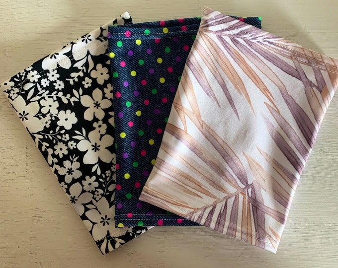 Super Cute 3 Pack Picc Line Covers Package-includes fern, dots and flower power pattern
