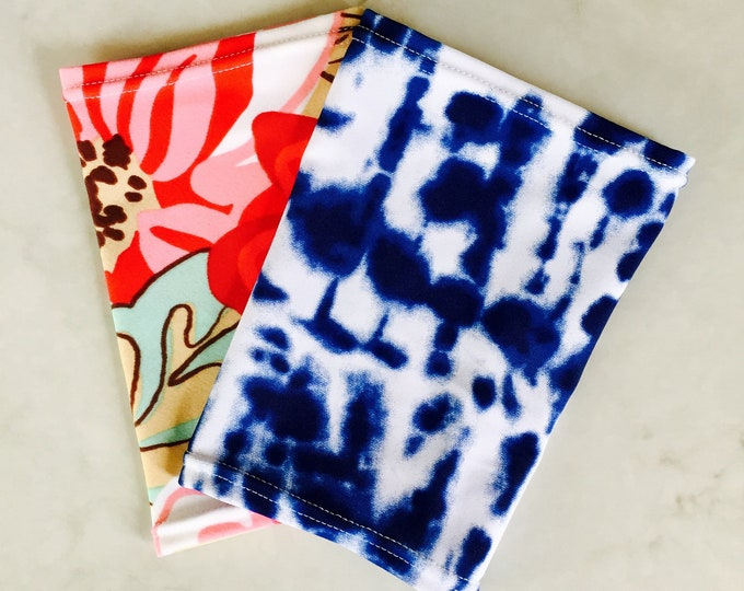 2 pack picc line covers-includes flower pattern and blue tie dye cover