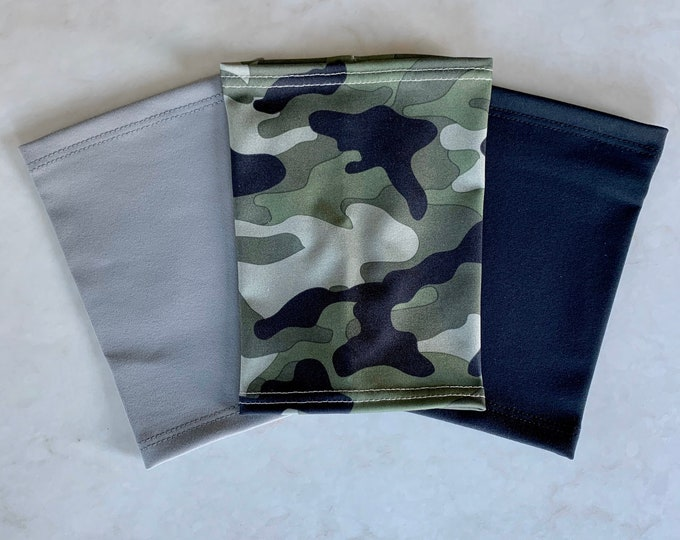 3 Pack Picc Line Covers-camouflage, black and grey
