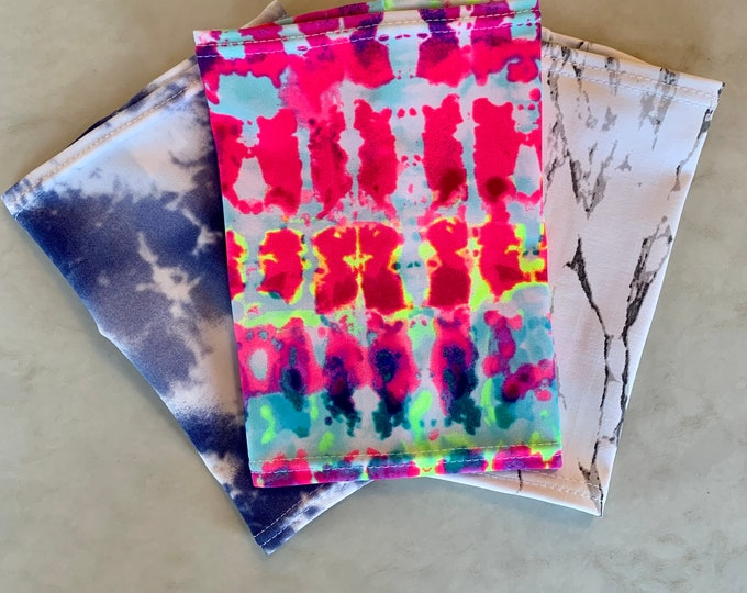 Totally tie dye 3 Pack Picc Line Covers           (Included Black, blue, bright tie dye)