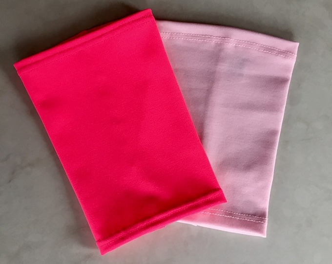 2 pack pale pink and hot pink picc line covers-perfect pack to go with a variety of outfits!