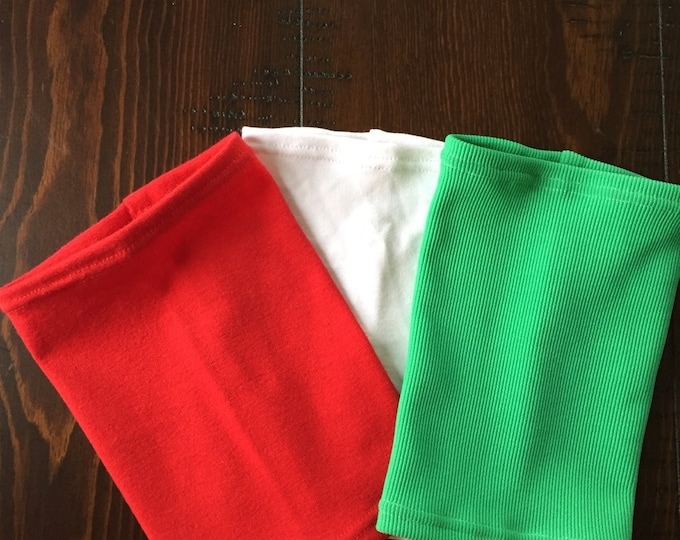 3 pack holiday cheer picc line covers-red, green and white festive combo pack!