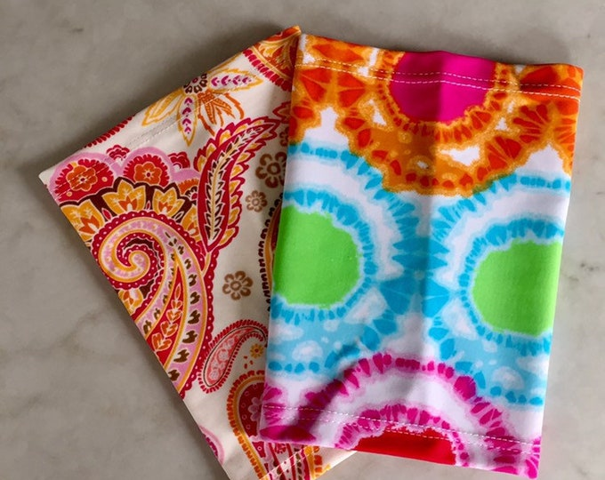 Fabulous 2 Pack-includes paisley and multi color tie dye covers