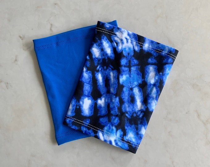 Beautiful Blue 2 Pack Picc Line Covers           (Includes royal blue and blue tie dye)