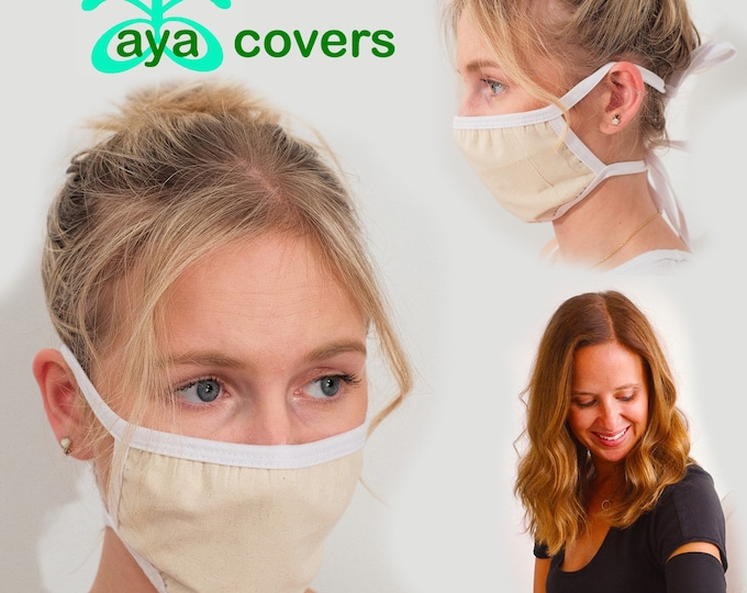 Face Mask and 3 Pack Picc Line Covers-Includes paisley, hot pink, flower covers and a three layer Cotton Mask with Filter Pocket