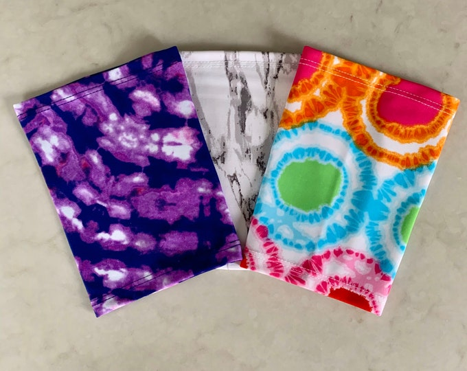 Terrific tie dye 3 Pack Picc Line Covers           (Included Black, purple, rainbow tie dye)