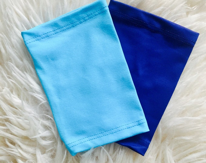 2 pack turquise and navy picc line covers-perfect pack to go with any outfit!