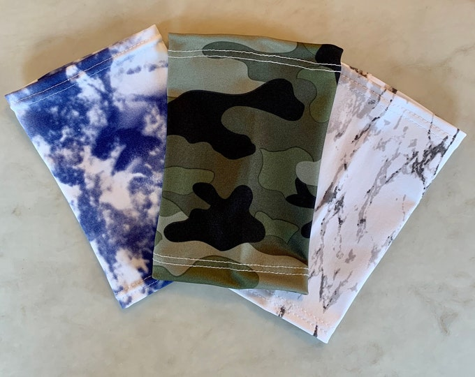 Terrific 3 Pack Picc Line Covers-Includes camouflage, black/white tie dye, blue tie dye
