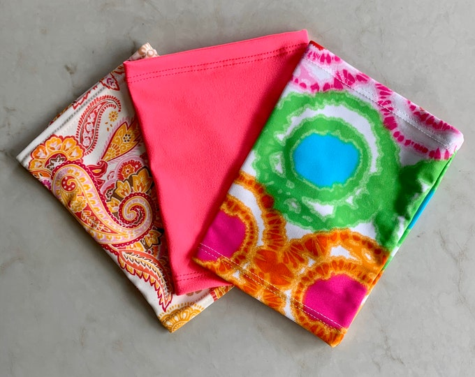 Fantastic 3 Pack Picc Line or Freestyle Libre Covers-Includes paisley, hot pink and bright tie dye covers