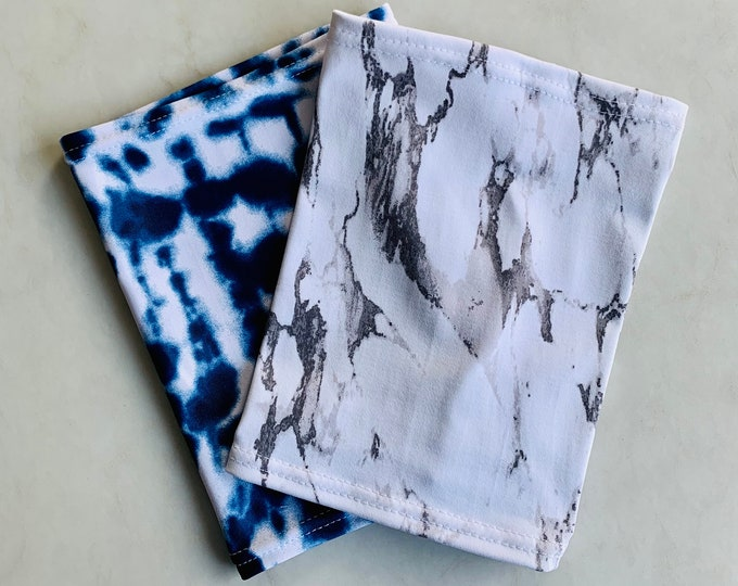 2 pack picc line covers-includes white marble and blue tie dye covers