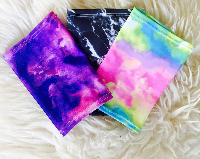 Terrific tie dye 3 Pack Picc Line Covers           (Included Black, purple, rainbow tie dye)