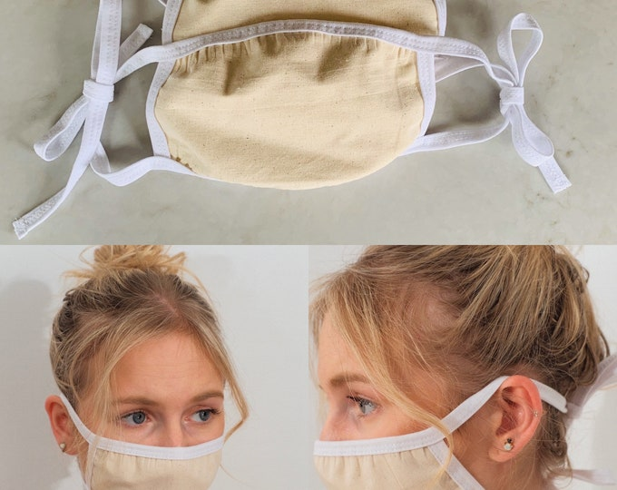 2 Pack Face Mask-3 Layers Includes Filter Pocket
