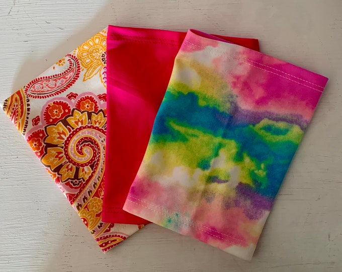Fantastic 3 Pack Picc Line or Freestyle Libre Covers-Includes paisley, hot pink and beautiful tie dye covers