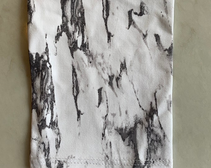 Grey and White Tie Dye Picc Line Cover