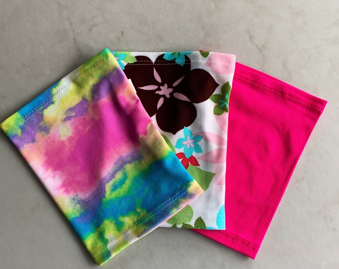 Terrific 3 Pack Picc Line Covers-Includes rainbow, pink and flower covers