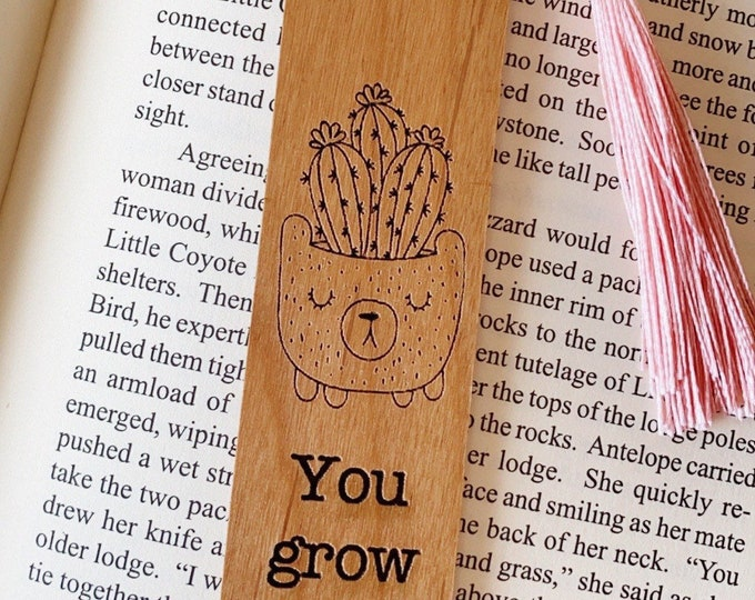 You grow girl | Wood bookmark