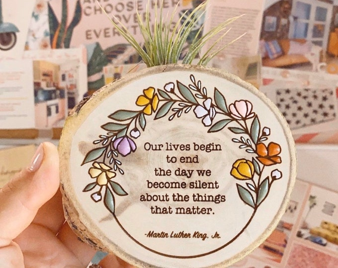 Air plant magnet MLK quote