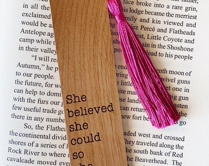 She believed she could, so she did. | Bookmark
