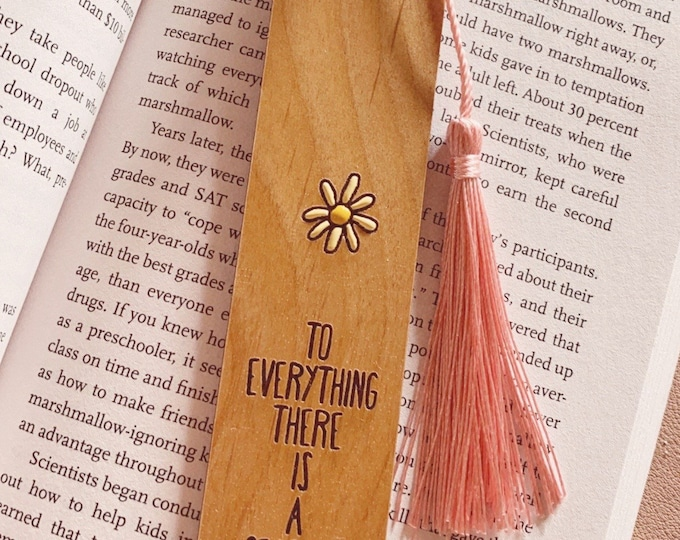 To everything there is a season | Wood bookmark