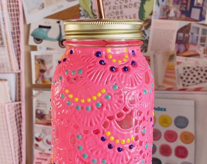 Reusable mason jar