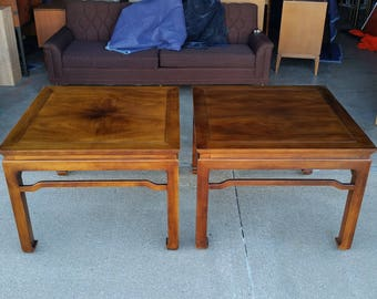 Vintage Henredon Asian Style Coffee Tables Walnut U0026 Koa Wood Folio 16 Mid  Century Great Condition