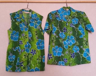 3cd9e8c79 Vintage 1950's Authentic Royal Hawaiian Shirts Mid Century Clothing Island  Wear