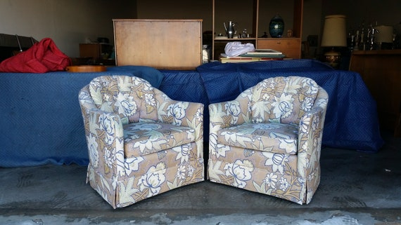 Miraculous Vintage Baker Furniture Swivel Chairs Mid Century Goose Down Cushions Hollywood Regency Excellent Quality Condition Ocoug Best Dining Table And Chair Ideas Images Ocougorg