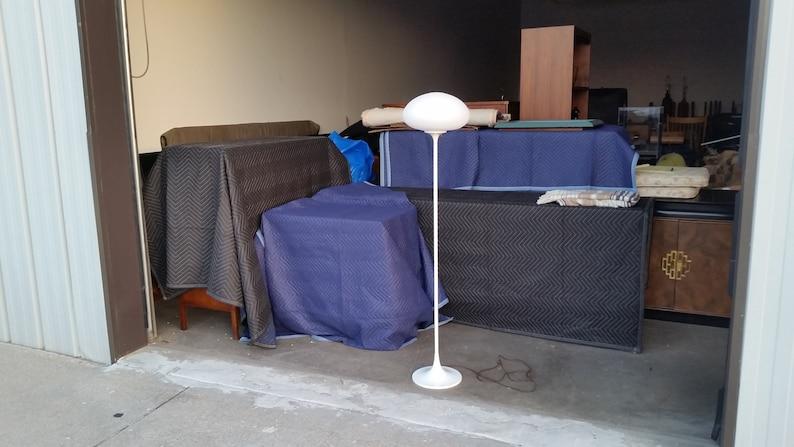 Vintage 1970/'s Laurel Mushroom Floor Lamp Mid Century Modern White Base Excellent Condition MCM