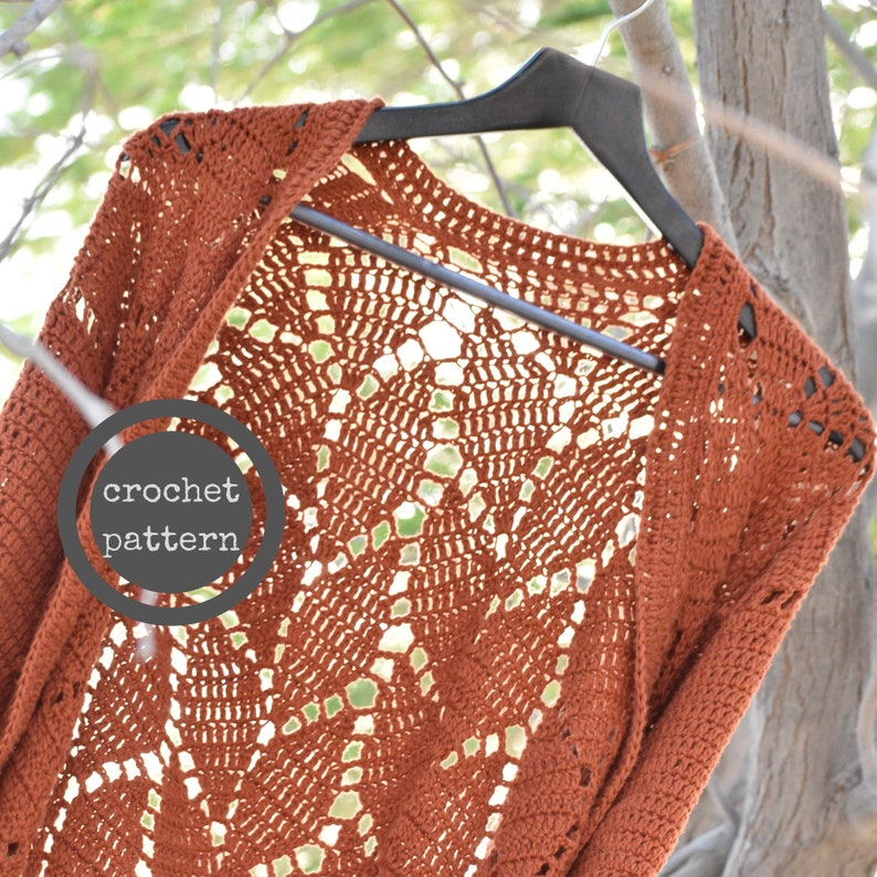 In the Forest of the Night Cardi Crochet Pattern image 0