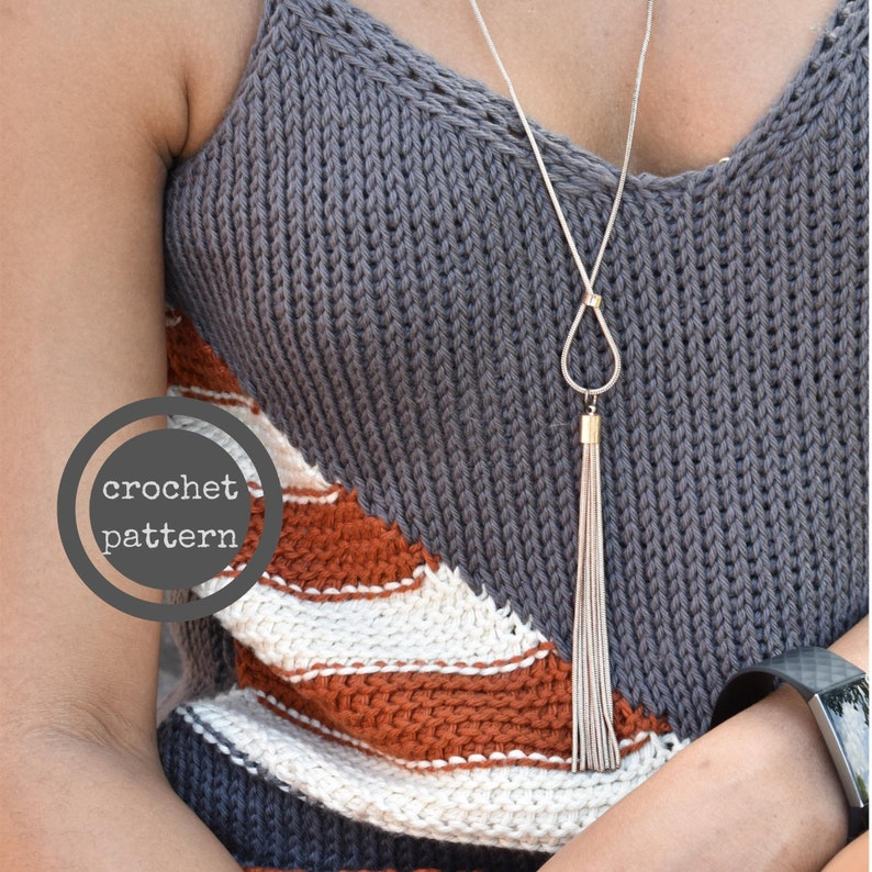Konfòtab Tank Top Crochet Pattern image 0