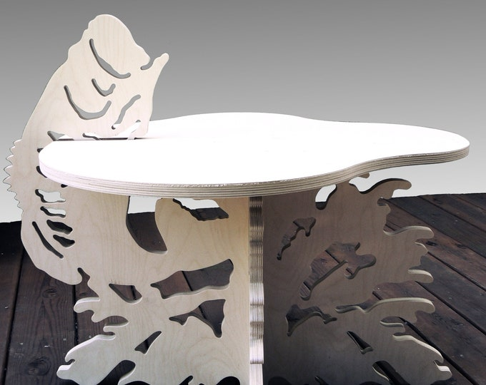 End Table - Fish Design - Bass Jumping