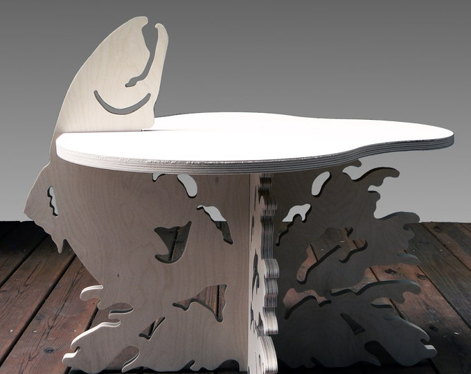 End Table - Fish Design - Salmon Jumping