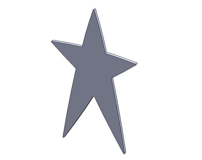 Star Cutouts - DXF And STL Files - Vector Graphics And Model For CNC Router, Laser Engraver, 3D Printer, Or Plasma Cutter