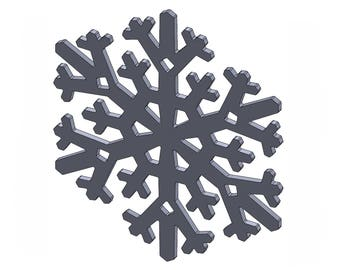 "6"" Snowflake - DXF And STL Files - Vector Graphics And Model For CNC Router, Laser Engraver, 3D Printer, Or Plasma Cutter"