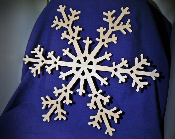 "12"" Wood Snowflake Cutout - Wooden Snowflake Shapes"