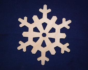 """4"""" Wood Snowflake Cutout - Wooden Snowflake Shapes"""