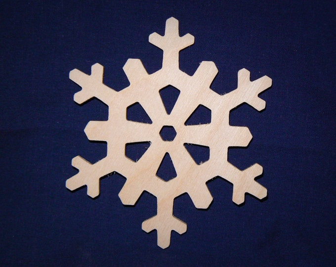"4"" Wood Snowflake Cutout - Wooden Snowflake Shapes"